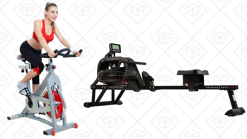 Sunny Health & Fitness Pro Indoor Cycling Bike | $208 | AmazonSunny Health & Fitness Water Rowing Machine | $399 | Amazon