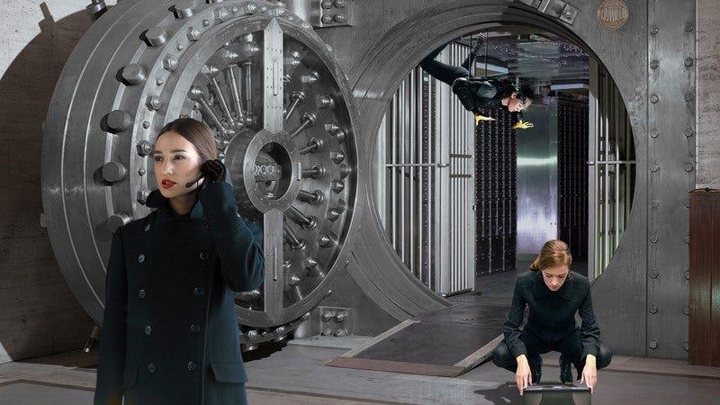 Women pulling off a heist.