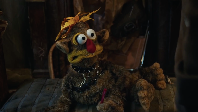 One of the many foul-mouthed puppet characters from The Happytime Murders.