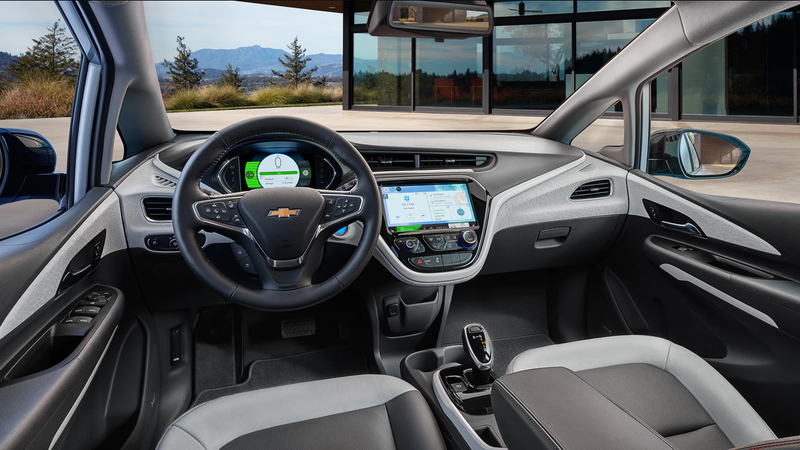 The 2018 Chevrolet Bolt, which has an interior similar to the 2017 model.