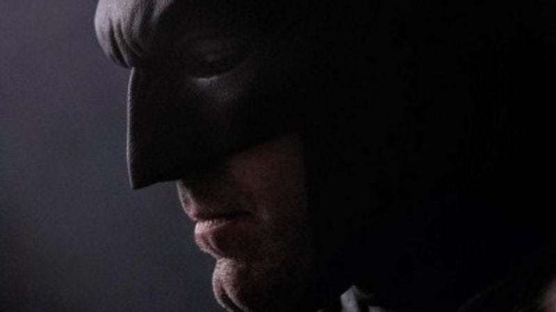 Illustration for article titled UPDATED: Let's Photoshop this new image of Ben Affleck's Batman because we're immature jackasses