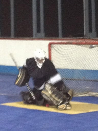 Illustration for article titled Sidney Crosby Played Goalie In A Dek Hockey Game The Other Night