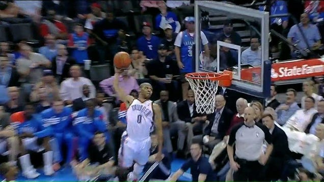There's A New Dunk Of The Year Candidate, And It's This ... Russell Westbrook And Kevin Durant Alley Oop