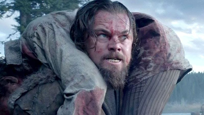 Illustration for article titled Leonardo DiCaprio Hopes He Screamed And Cried Good Enough In 'The Revenant' To Win Oscar