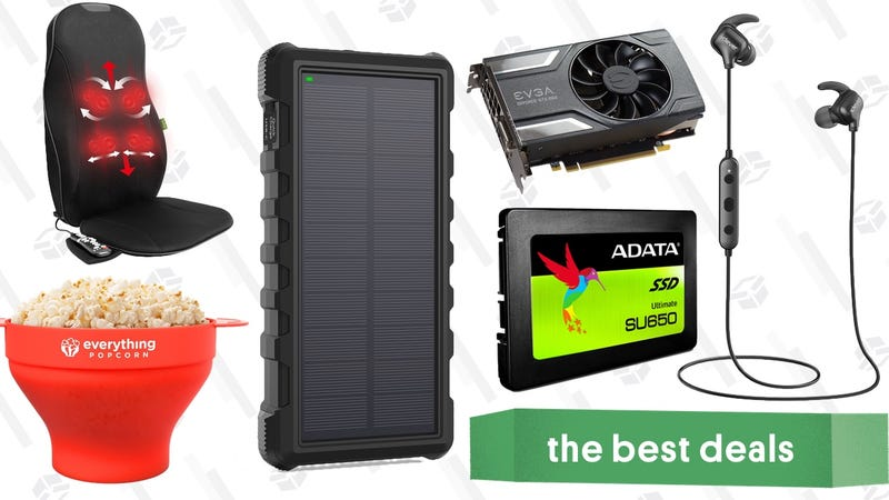 Illustration for article titled Saturday's Best Deals: Fossil Accessories, Cheap SSD, Solar Battery, and More