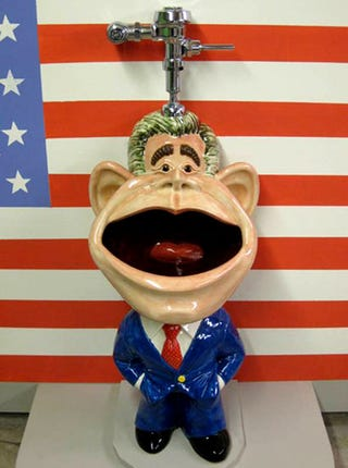 Illustration for article titled George W. Bush Urinal Pees Tribute to the Last 8 Years