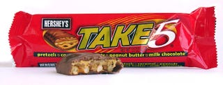Illustration for article titled Fact: Take 5's Are the Greatest Candy Bar Ever Invented
