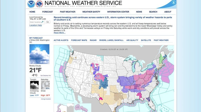 Five Best Weather Web Sites - What does a weather map tell us