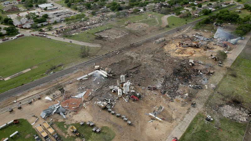 Illustration for article titled Aerial Photo Shows Extent Of West, Texas Explosion