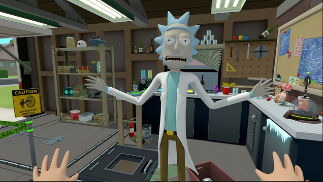 the new rick and morty game is one of the best vr experiences you can play