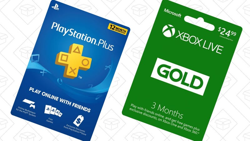 1 Year PlayStation Plus | $40 | Amazon1 Year Xbox Live Gold | $50 | Amazon