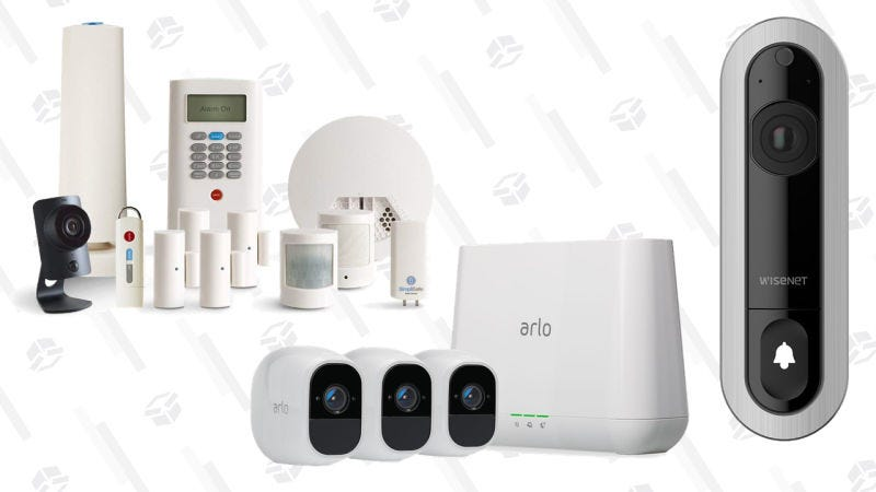 Gold Box de sistemas de vigilancia | AmazonSimpliSafe Security System de 12 piezas | $300 | AmazonGráfico: Jillian Lucas