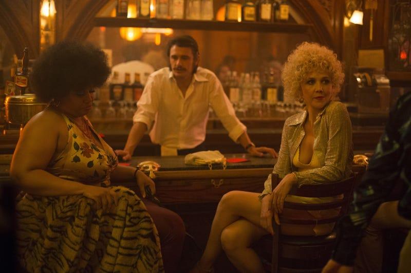 Pernell Walker, James Franco, and Maggie Gyllenhaal star in The Deuce (Photo: Paul Schiraldi/HBO)