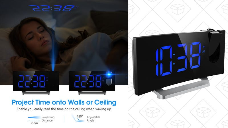 Mpow FM Projection Alarm Clock, $30 with code HQKGWOGC