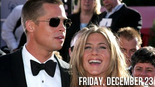Illustration for article titled Jennifer Aniston Advised To Make Mad Dash For Brad Pitt's Sperm