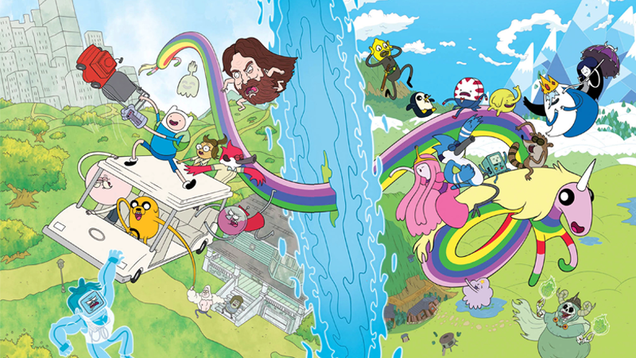adventure time and regular show will cross over in their own comic