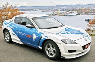 Illustration for article titled Green Wankel: Hydrogen-Powered Mazda RX-8 Hits Norway