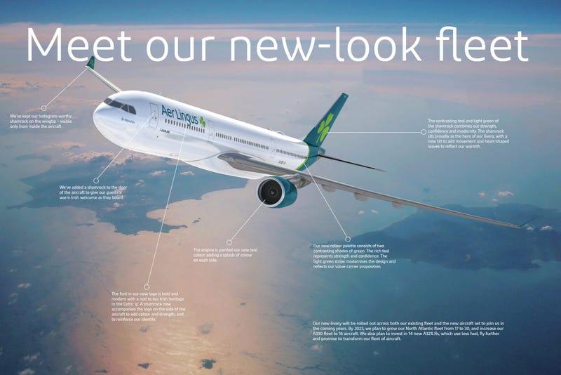 Illustration for article titled Aer Lingus gets fresh livery