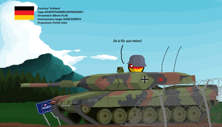 Illustration for article titled Polandball - Iconic Modern Tanks