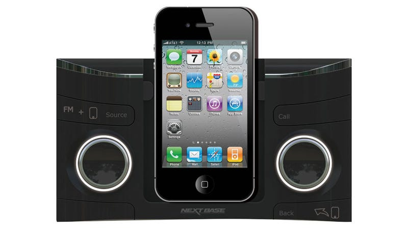 Illustration for article titled A Mechanically Precarious iPhone Dock Was My Favorite Head Unit at CES