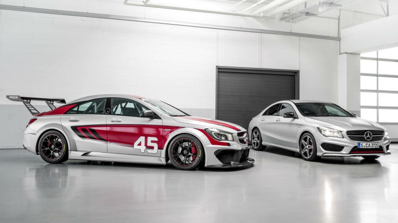 Illustration for article titled The Mercedes CLA45 AMG Becomes A Titilating Race Car
