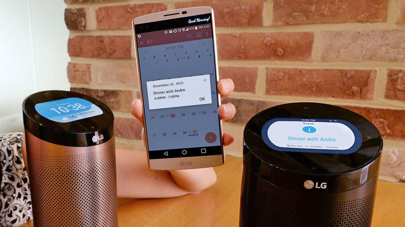 Illustration for article titled LG'sSmartThinQ Hub Puts All Your Smarthome Notifications on a 3.5-inch Screen