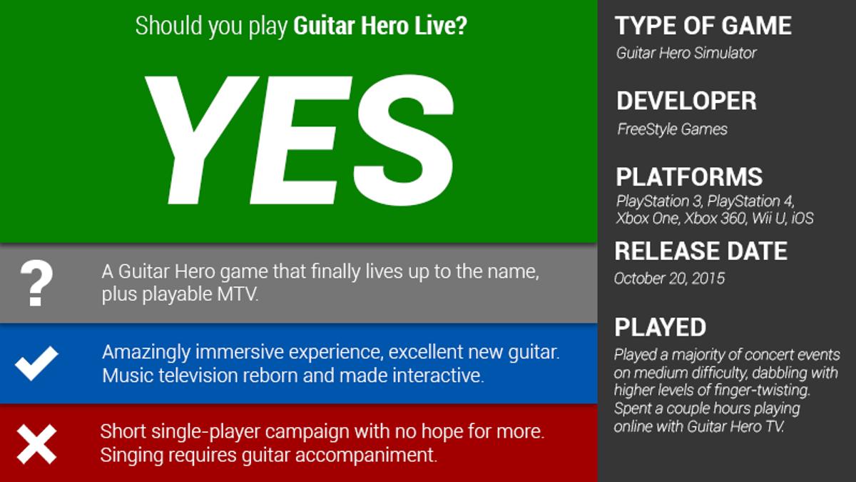Guitar Hero Live: The Kotaku Review