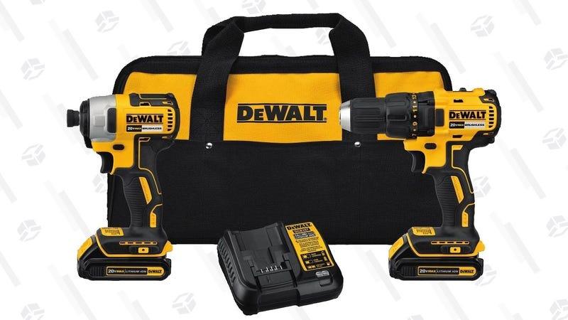 DEWALT 20V Brushless Drill/Impact Driver Combo Kit   $179   Amazon