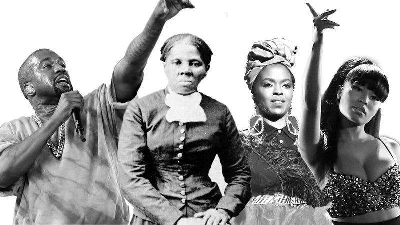L-R, Kanye West, Harriet Tubman, Lauryn Hill, Nicki Minaj