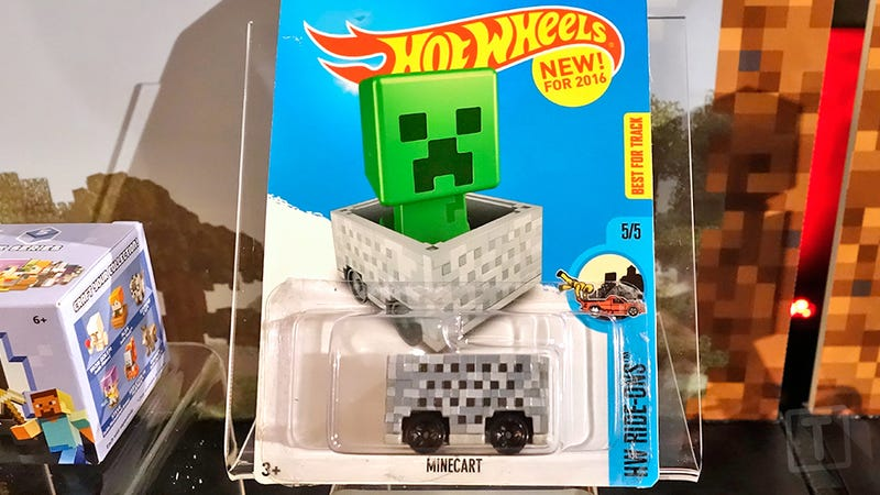 Illustration for article titled The First Minecraft Hot Wheels Car Is Just a Box on Wheels