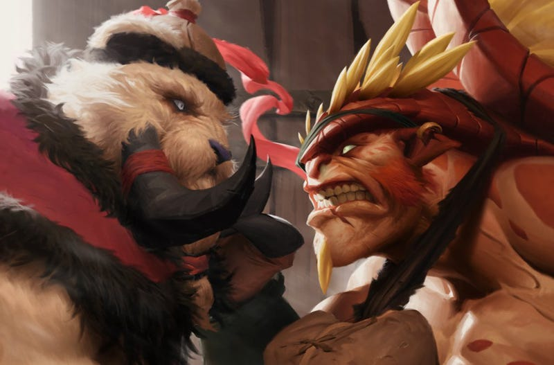 Illustration for article titled Artifact Seems Like A Very Valve Card Game
