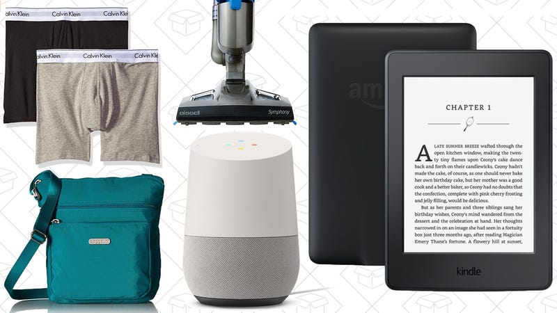 Illustration for article titled Sunday's Best Deals: $80 Kindle Paperwhite, Calvin Klein, Google Home, and More