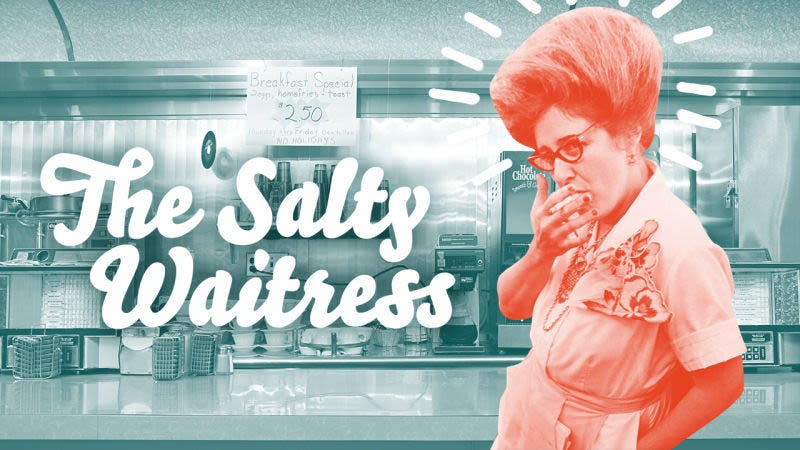 Illustration for article titled Ask The Salty Waitress: Why do servers always check in when my mouth is full?
