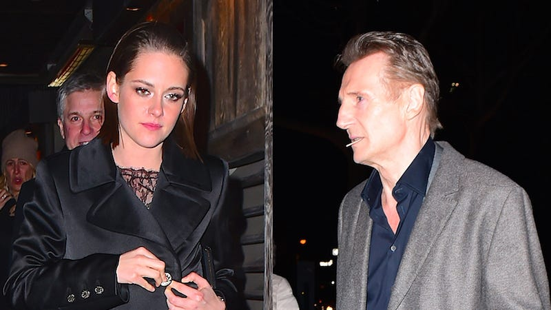 Illustration for article titled Would You Believe Me If I Told You Liam Neeson Is Dating Kristen Stewart?
