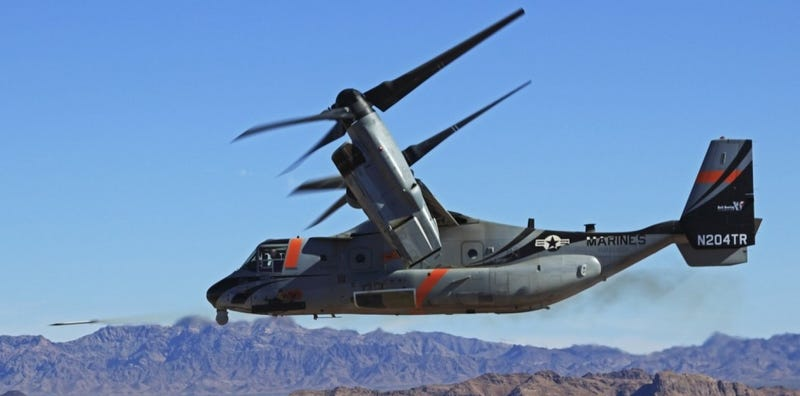 Illustration for article titled The V-22 Osprey Finally Gets The Missiles And Rockets It Needs