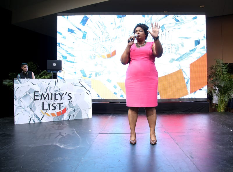 Stacey Abrams speaks onstage during the Democratic National Convention in Philadelphia on July 27, 2016.