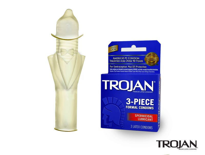 Illustration for article titled Trojan Unveils New 3-Piece Formal Condoms