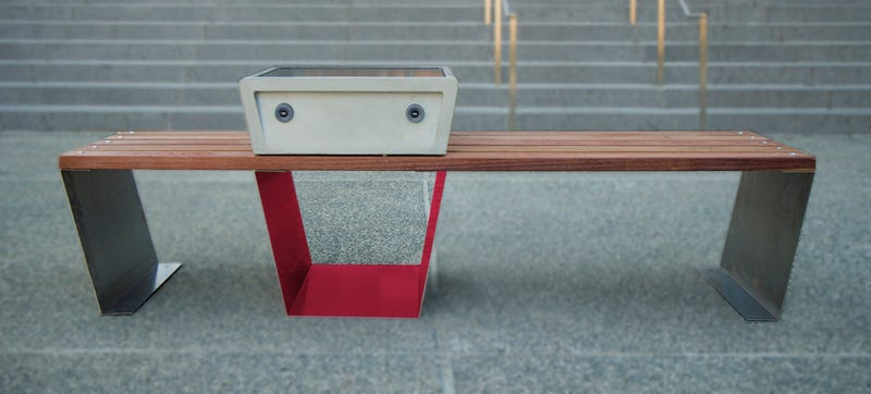 Illustration for article titled Boston Is Getting Solar-Powered Smart Benches in Its Parks