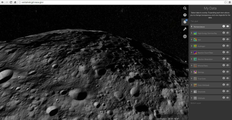 Illustration for article titled Explore Vesta With A New App For Citizen Scientists
