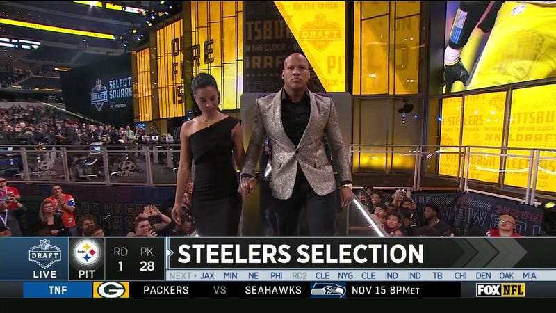 Illustration for article titled Ryan Shazier Walks On Stage To Announce The Steelers' First-Round Pick