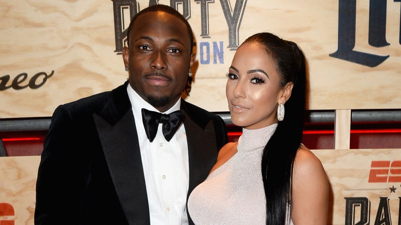 NFL player LeSean McCoy and designer Delicia Cordon attend the 13th Annual ESPN The Party on February 3, 2017 in Houston, Texas.