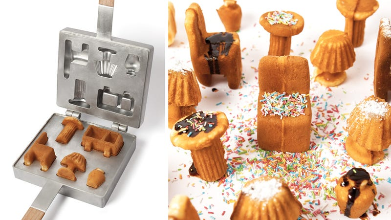Illustration for article titled Miniature Furniture Waffle Mold: Ken and Barbie Better Hit the Malibu Dream Gym