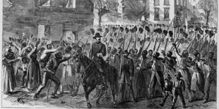 Entry of 55th Mass. Colored Regiment in Charleston, 1865, in Harper's Weekly (Library of Congress)