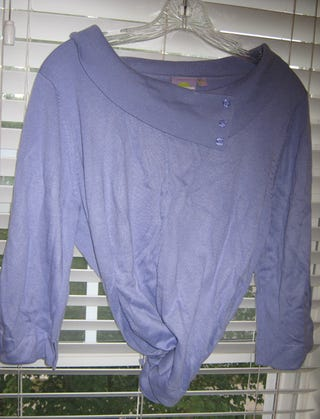 Found it. Wrinkly, but lavender.
