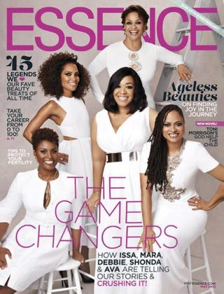 Issa Rae, Mara Brock Akil, Debbie Allen, Shonda Rhimes and Ava DuVernayEssence Magazine