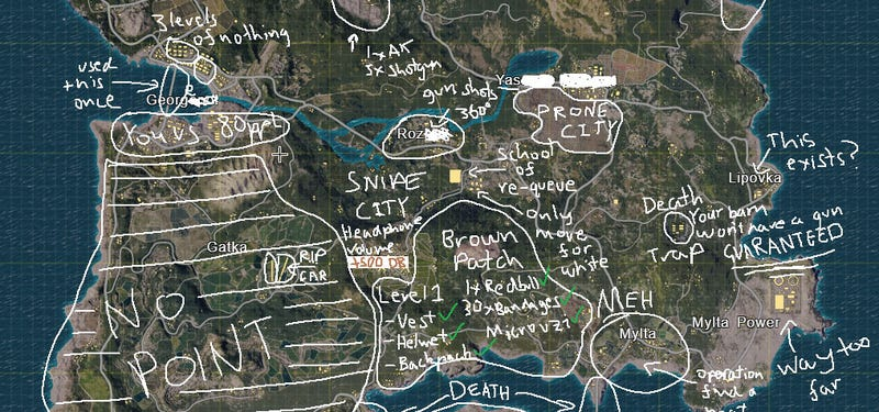 Playerunknown S Battlegrounds Maps Loot Maps Pictures: Playerunknown's Battlegrounds, Explained In One Map