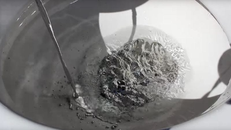 Screenshot: Flushing 240lbs Of Mercury