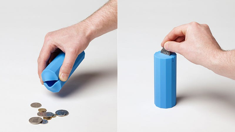 Illustration for article titled This Silicone Cylinder Is an Acceptable Adult Piggy Bank