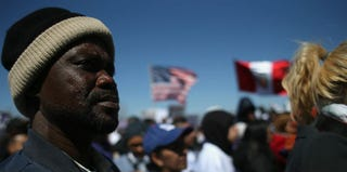 Thousands demonstrate at an immigration-reform rally in New Jersey. (John Moore/Getty Images)