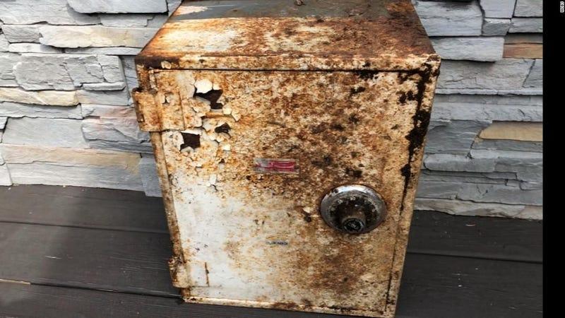 Illustration for article titled Limpian la caja del tendido eléctrico del jardín y descubren que era una caja fuerte con dinero, oro y diamantes
